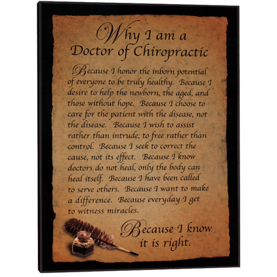 Why I'm a Chiropractor